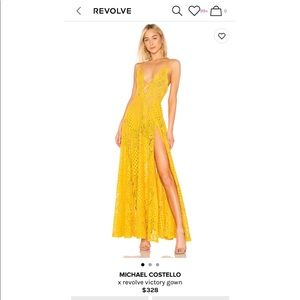 Michael Costello x revolve dress in marigold